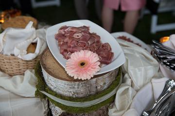 cocktail hour wedding reception idea