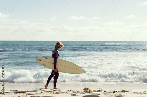 canvas print picture Ready to meet waves