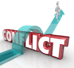 Avoid Conflict Arrow Over Word No Confrtonation Battle Disagreem