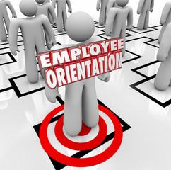 Employee Orientation Words New Worker Organization Chart