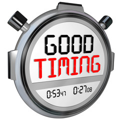 Good Timing Words Stopwatch Timer Fast Speed Arrival