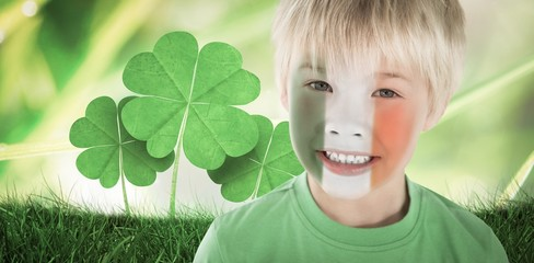 Composite image of cute irish boy