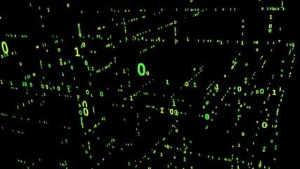 Animated Binary Matrix Grid
