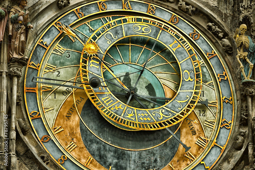 Canvas Praag Astronomical clock in Prague