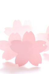 桜メッセージカード パンチ穴有タイプ