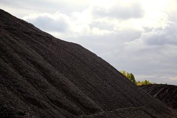 Heaps of coal