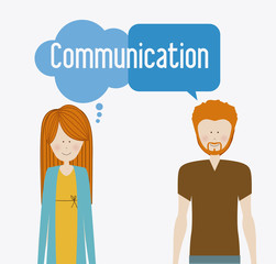 Communication design, vector illustration.