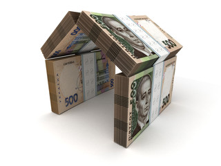 Real Estate Concept Ukrainian Hryvnia