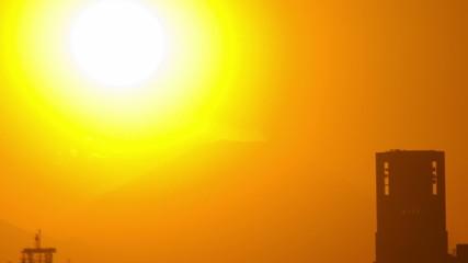sunset to shinjuku skyscraper