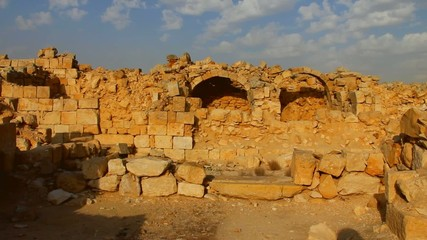 Ancient ruins of old town of Avdat