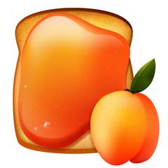 Peach jam breakfast toast