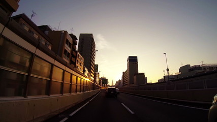 PoV driving tokyo in the morning