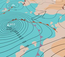 Storm depression chart