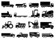 Heavy vehicles icons set - 78799542