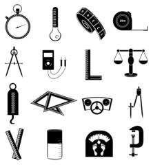 measurement instrument icons set