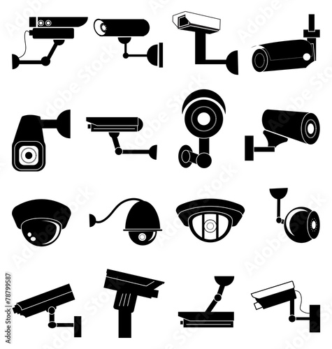 Security camera icons set - 78799587