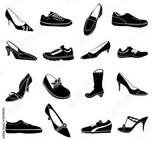 Shoes icons set - 78799596