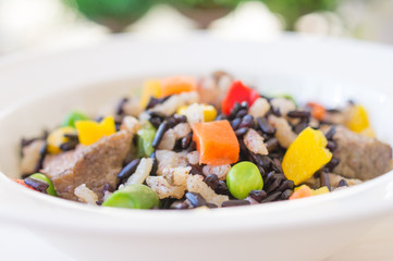 Risotto with wild rice