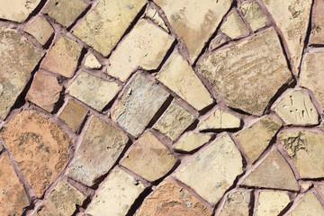 mosaic stone wall texture