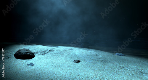 Leinwandbild Motiv Underwater Sea Floor