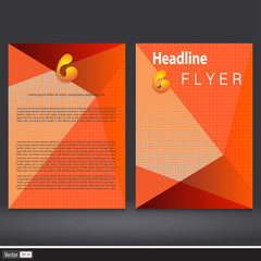 Orange Triangle Flyer Template For Business.