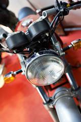 Classic retro motorcycle