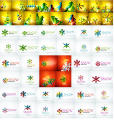 Mega collection of Christmas and winter design elements