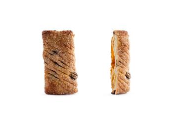 Flaky cookies with raisins
