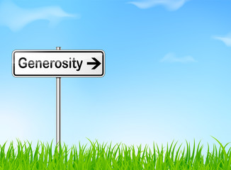 generosity direction sign