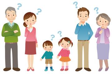 疑問 3世代家族 6人