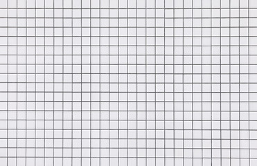 White mosaic tiles wall pattern background
