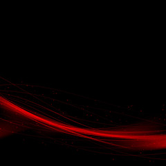Bright red speed swoosh abstract lines background