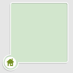 vector green text box with home symbol
