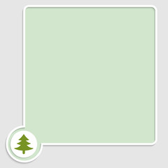 vector green text box with tree symbol