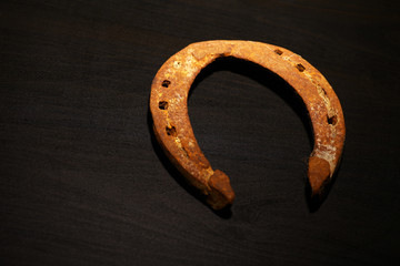 Rusty horse shoe