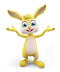 Easter Bunny with presentation pose