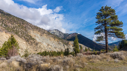 View of the Rugged Mountains in the Fraser Canyon