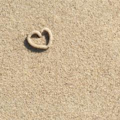 Sommer, Strand, Herz, Liebe, Symbol