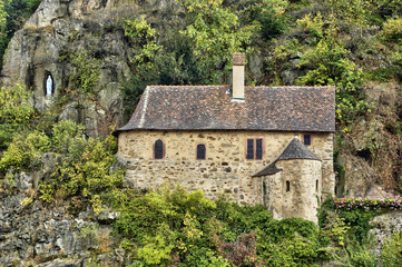 France, an old and picturesque chapel in Kaysersberg