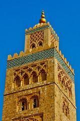 Morocco, mosque of Koutoubia in Marrakesh