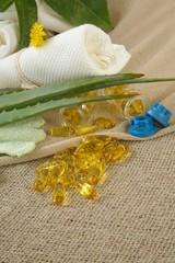 Aloe vera oil softgels