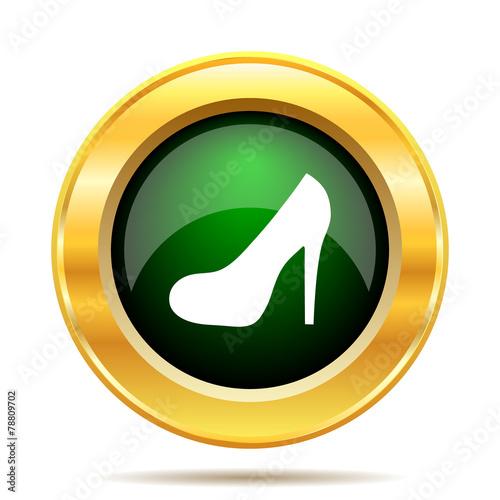 canvas print picture High heel icon