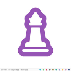 Sticker Icon - Vector file includes all colors