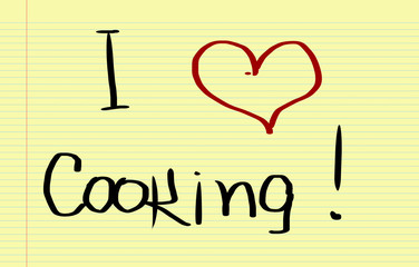 I Love Cooking Concept