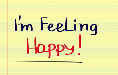 I Feeling Happy Concept