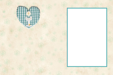 My First Communion photo frame card