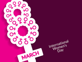 Elegant background design for Women's Day.