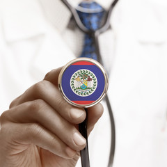 Stethoscope with national flag conceptual series - Belize