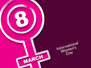 Creative background design for Women's Day.