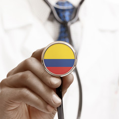 Stethoscope with national flag conceptual series - Colombia